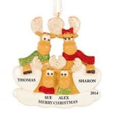 family of 4 family collection personalized ornaments