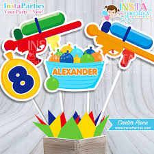 birthday boy ideas nerf gun water balloons party centerpiece water guns party center