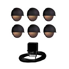 Landscaping Lighting Kits by Shop Portfolio Black Low Voltage Incandescent Railing Deck Light