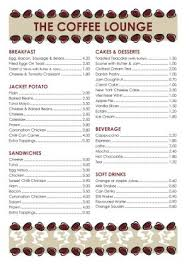 coffee shop menu template menu template 006