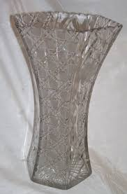 Vintage Cut Glass Vases American Brilliant Period Abp Cut Glass Vase From About 1900