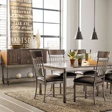 standard furniture hudson extension dining table in rustic dark
