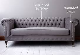 Grey Leather Chesterfield Sofa Chesterfield Sofa With Tufting On The Back But Not The Bottom Big
