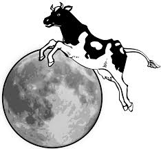clipart the cow jumps over the moon