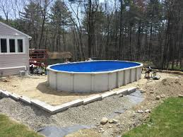 Backyard Landscaping Ideas With Above Ground Pool Pool Top Notch Backyard Landscaping Decoration Using Oval White