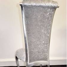 Silver Dining Chairs Leaf Diva Dining Chair