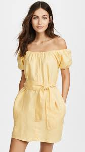 on trend yellow dresses shopbop save up to 30 use code more17
