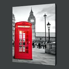 wall ideas red wall art red wall art studio house artisan house red wall decor for bedroom red campervan wall art red phone box london canvas wall art pictures prints 20quotx16quot free uk p red metal wall art decor