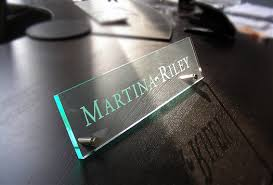 etched glass desk name plates name plates