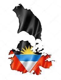 Flag Of Antigua Antigua And Barbuda Flag Map U2014 Stock Photo Daboost 53306511