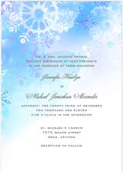 Snowflake Wedding Invitations Winter Wedding Invitation Kits Printable Diy Templates