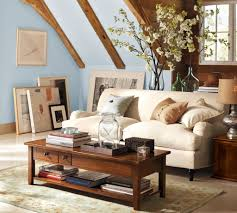 Pottery Barn Tanner Coffee Table by Living Room Pottery Barn Living Room Ideas Grey Polyester Sofa