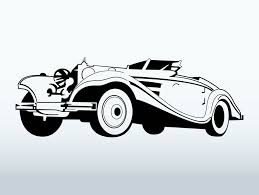 vintage cars clipart classic car clipart silhouette pencil and in color classic car