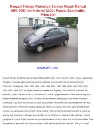 renault twingo workshop service repair manual by lakeishajeffers