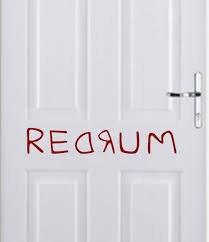 amazon com redrum from the shining halloween wall decal 24x5 amazon com redrum from the shining halloween wall decal 24x5 red home kitchen