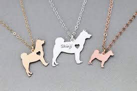 necklace personalized shiba inu dog necklace personalized silver gold ivybydesign