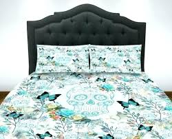 lost and found floral owl with sugar skull duvet cover skull duvet