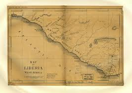 Liberia Map Map Of Liberia West Africa World Digital Library