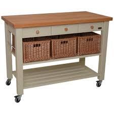 kitchen islands and trolleys buy eddingtons lamborn 3 drawer butcher s trolley at