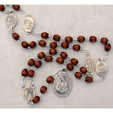 seven sorrows rosary seven sorrows rosary with brown wood
