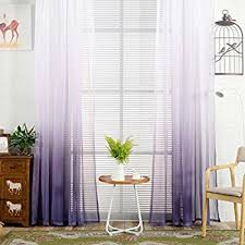 Ombre Sheer Curtains Decorative Curtains Bsgsh Beautiful Ombre Sheer