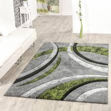 Wohnzimmer Farbe Grau Teppich Wohnzimmer Gestreift Modern Mit Konturenschnitt In Grün