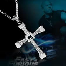 crystal cross pendant necklace images The fast and the furious dominic toretto gold plated inspired jpg