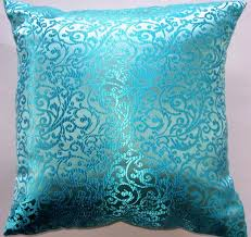 turquoise throw pillows hidden zipper geometric pattern aqua