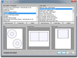 selecting cd label templates for the disc or case