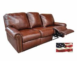 american made reclining leather couch