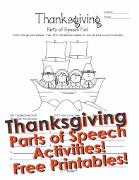 thanksgiving parts of speech activities for squarehead teachers