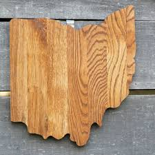 ohio state shape wood cutout wall from state your