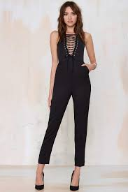 lace up jumpsuit bomb product of the day lavish s drop it lace up