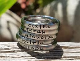 personalized stackable rings the 25 best stackable name rings ideas on name rings