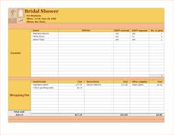 registry for bridal shower bridal shower checklist excel budget template free printable registry
