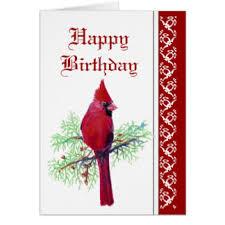 birthday with cardinal greeting cards zazzle