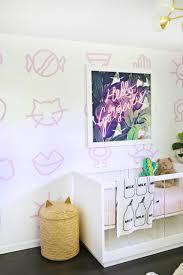painted nursery wallpaper diy u2013 a beautiful mess