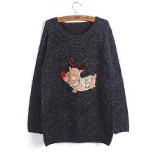 ellacey new 2016 stylish sweater reindeer