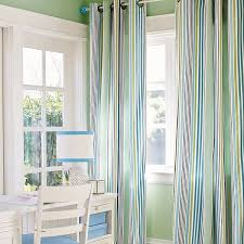 Green And Blue Curtains Blue And Green Curtains House Beautiful