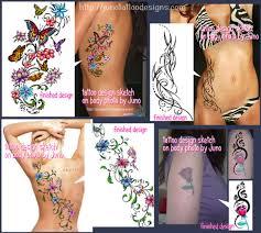 feminine tattoos custom tattoos made to order by juno
