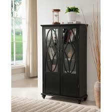 black bookcases with glass doors black wood contemporary curio bookcase display storage cabinet