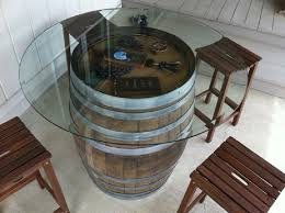 Barrel Bistro Table Handcrafted Wine Barrel Tables Coffee End Bistro