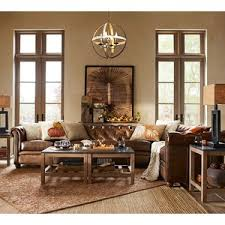 Pottery Barn Leather Pottery Barn Chesterfield Leather Upholstered 4 Piece Grand