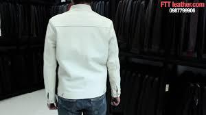 o khoác da nam mu trắng da đẹp áo khoác da dª