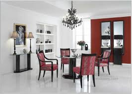 Dining Rooms Decor by Modern French Round Dining Room Decor Glass Table Fur Rug Pendant