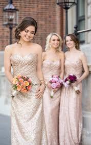 champagne sequin bridesmaid dresses rose gold mermaid cheap long