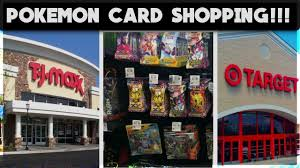 pokemon card shopping at t j max and target trip to t j maxx