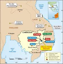 Gold Line Map Cambodian Gold Projects Renaissance Minerals