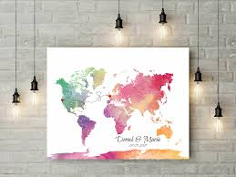 Map Guest Push Pin Wedding World Map Signature Guest Book Bride And