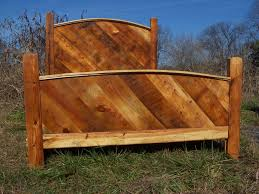 buy a hand crafted custom bed frame made from reclaimed pine made